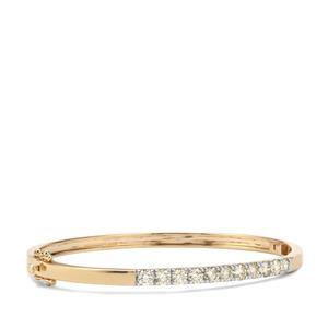 2.05ct Yellow Diamond 18K Gold Lorique Oval Bangle
