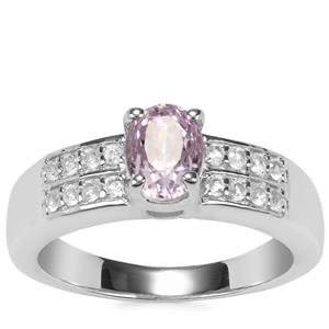 Mawi Kunzite Ring with White Topaz in Sterling Silver 1.53cts