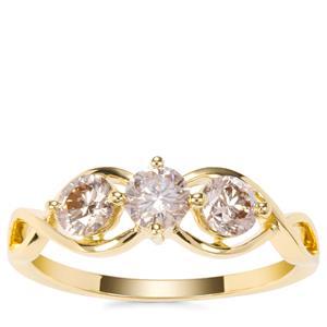 Argyle Diamond Ring in 18K Gold 0.79ct