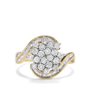 1ct Diamond 9K Gold Diamantaire Ring