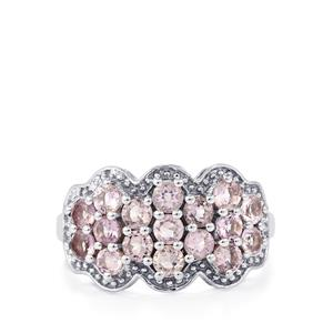 1.68ct Rose De France Amethyst Sterling Silver Ring
