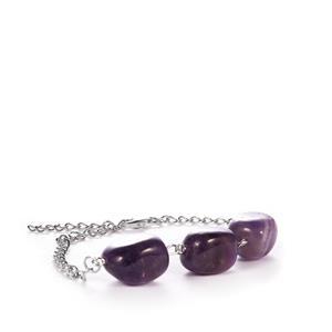 61.90ct Zambian Amethyst Sterling Silver Bracelet.