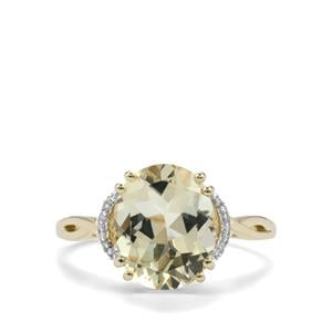 Serenite Ring with Diamond in 9K Gold 3.25cts