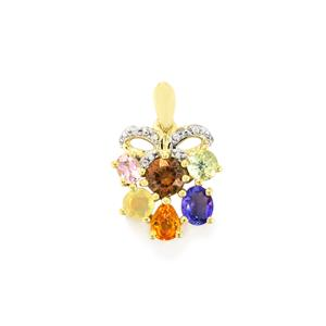 Harlequin Gems Pendant in 10k Gold 1.93cts