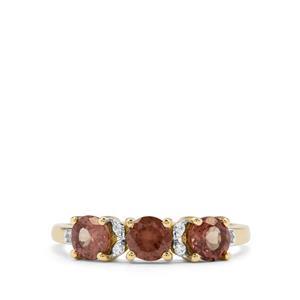 Bekily Colour Change Garnet & White Zircon 9K Gold Ring ATGW 1.36cts