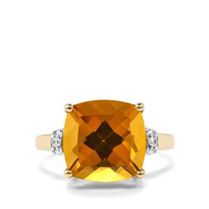 Xia Heliodor & White Zircon 9K Gold Ring ATGW 5.04cts