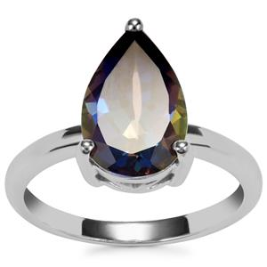 Mystic Blue Topaz Ring in Sterling Silver 3.86cts