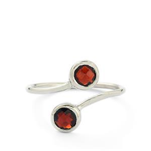 1.30ct Rajasthan Garnet Sterling Silver Ring