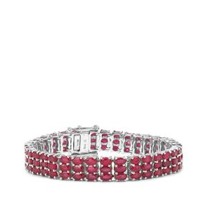 37.23ct Malagasy Ruby Sterling Silver Bracelet (F)