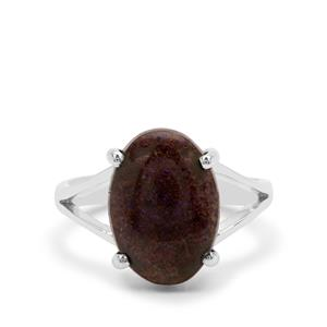 Andamooka Opal Ring in Sterling Silver 4cts