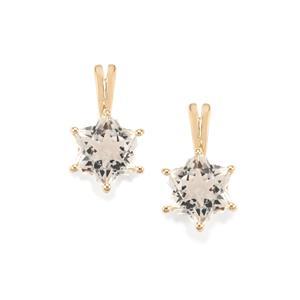 Itinga Petalite Wobito Snowflake Earrings in 10K Gold 3.80cts