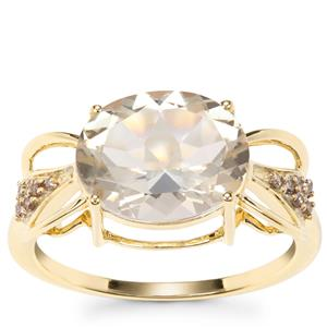 Serenite Ring with Champagne Diamond in 9K Gold 3.33cts