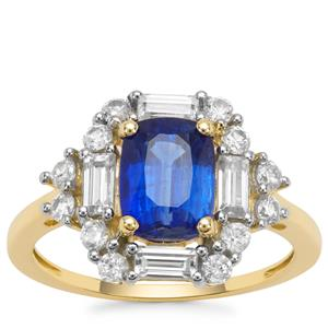 Nilamani Ring with White Zircon in 9K Gold 3.20cts