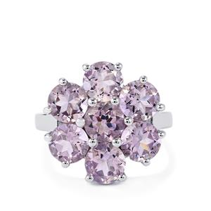 5.13ct Rose De France Amethyst Sterling Silver Ring