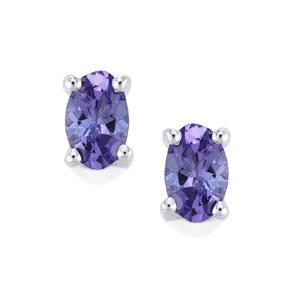 AA Tanzanite Earrings in Sterling Silver 0.47ct