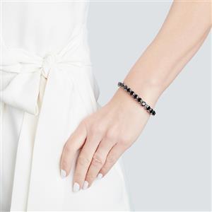 Black Spinel Bracelet in Sterling Silver 30.56cts