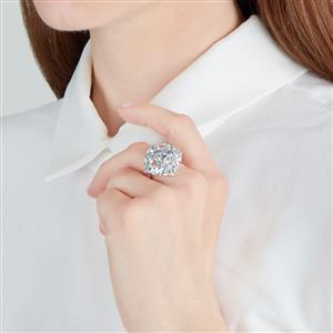 Espirito Santo Aquamarine Ring with Tanzanite in Sterling Silver 4.88cts