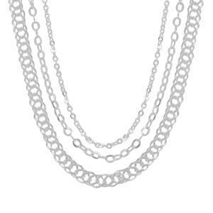 "18"" Sterling Silver Classico Set of Three Rolo Chain 4.89g"