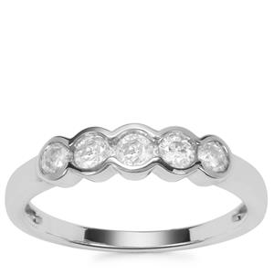 Diamond Ring in 9K White Gold 0.50ct