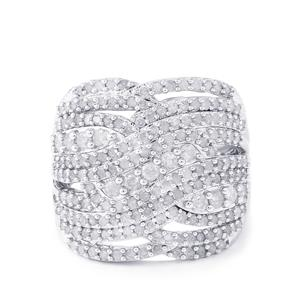 Diamond Ring in Sterling Silver 1.50cts