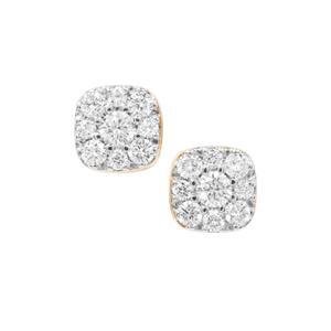 Diamond Earrings in 18K Gold 0.27ct