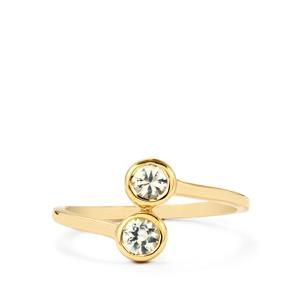 0.43ct Ceylon White Sapphire 9K Gold Ring