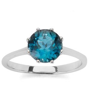 2.40ct Ceylonese London Blue Topaz Sterling Silver Ring