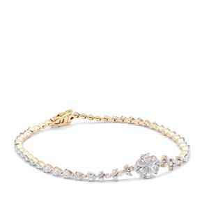 Diamond Bracelet in 18K Gold 2.72cts