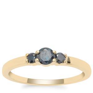 Blue Diamond Ring in 9K Gold 0.35ct