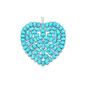 Sleeping Beauty Turquoise Pendant in Sterling Silver 31.44cts