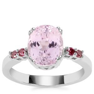 Kolum Kunzite Ring with Purple Diamond in Sterling Silver 3.73cts