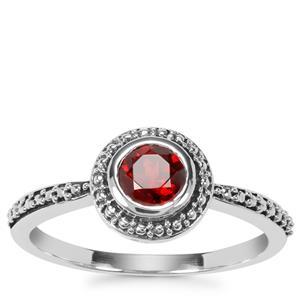 Zambian Garnet Ring in Sterling Silver 0.59ct