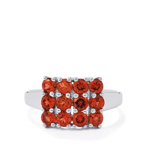 1.67ct Mozambique Garnet Sterling Silver Ring