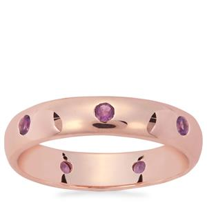 Zambian Amethyst Ring in Rose Gold Plated Sterling Silver 0.28ct