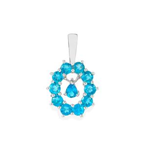 Neon Apatite Pendant in Sterling Silver 1.25cts