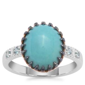 Sleeping Beauty Turquoise Ring with Marambaia London Blue Topaz in Sterling Silver 3.83cts