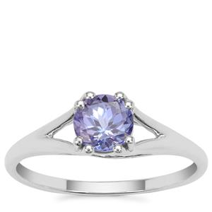 AA Tanzanite Ring in 9K White Gold 0.89cts