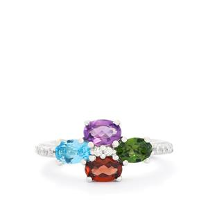 2.13ct Exotic Gems Sterling Silver Ring