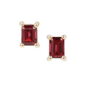 Malawi Garnet Earrings in 9K Gold 0.59ct