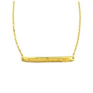 0.97ct Rio Golden Citrine Gold Vermeil Bridge Necklace