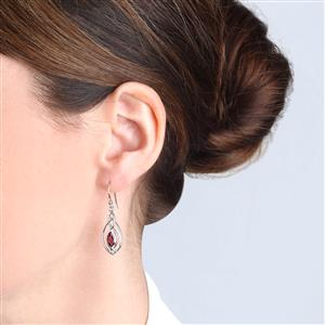 Nampula Garnet Earrings  in Sterling Silver 1.28cts