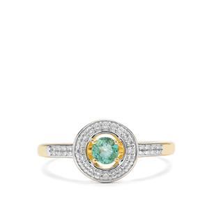 Zambian Emerald & White Topaz Midas Ring ATGW 0.44cts