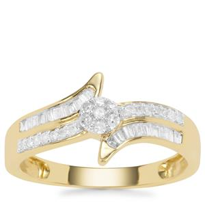 Diamond Ring in 9K Gold 0.25ct