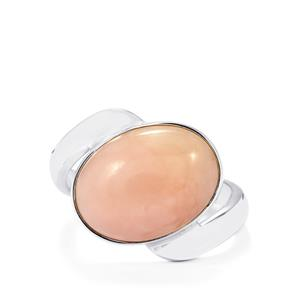 Peruvian Pink Opal Ring in Sterling Silver 6.86cts
