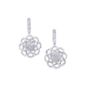 3ct Diamond Sterling Silver Earrings