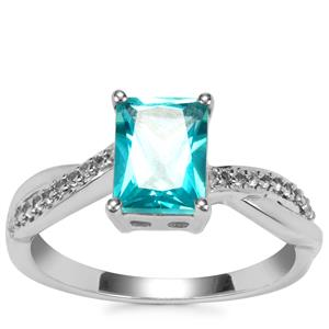 Batalha Topaz Ring with White Topaz in Sterling Silver 1.96cts
