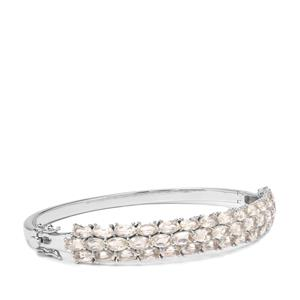 Serenite Oval Bangle in Sterling Silver 9.64cts