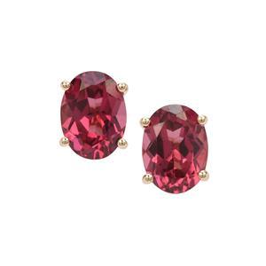 Umba River Garnet Earrings in 9K Gold 3.05cts