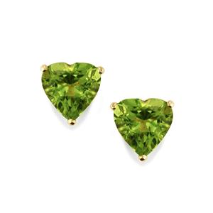 Changbai Peridot Earrings in 9K Gold 3.84cts