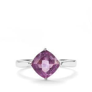 2.48ct Purple Fluorite Sterling Silver Ring